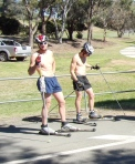 Roller skiing at the AIS