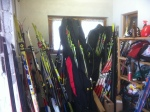 Ski room in Seefeld, Austria.