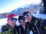 Mark, Hamish and Myself, Seefeld, Austria. Perfect Blue bird day.