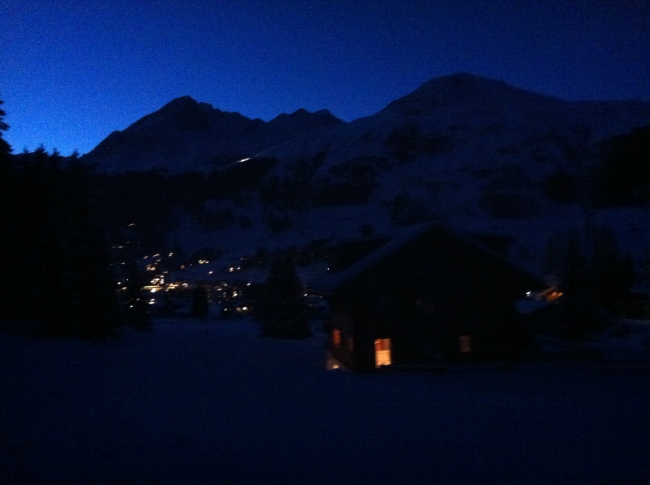 Davos in the evening.