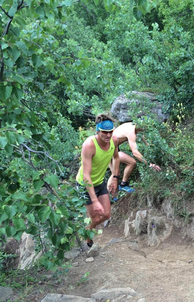 During Bird Ridge Mountain Race.